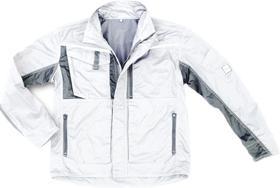 Kurtki i płaszcze Kurtka robocza Champ, rozmiar XL, biała/szara biała/szara