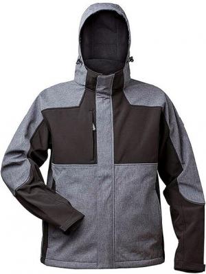 Kurtki i płaszcze Kurtka softshellowa Tau rozmiar XL, szary/czarny kurtka