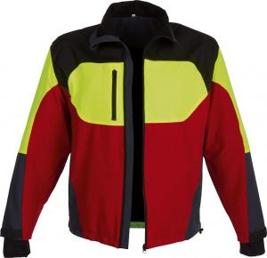 Odzież do pracy w leśnictwie Kurtka Stretch Forest Jack Red, rozmiar 3XL, czerwony/antracyt/żółty 3xl,
