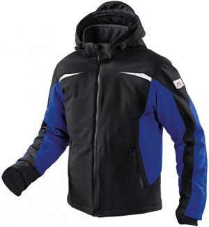 Kurtki i płaszcze Kurtka zimowa, softshell, rozmiar L, czarna/niebieska czarna/niebieska