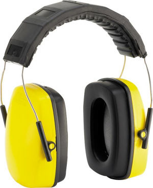 Ochrona słuchu Nauszniki przeciwhałasowe, 24 dB, żółte, FORTIS fortis