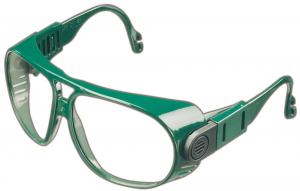 Ochrona oczu Okulary 692, PC bezbarwne, ramka zielona 692,