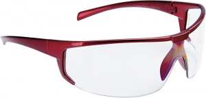 Ochrona oczu Okulary Polaris, przezroczyste, oprawka czerwona, FORTIS czerwona,
