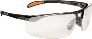 Ochrona oczu Okulary Protege, I/0 odporne na zarysowania, czarne/srebrne czarne/srebrne