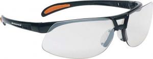 Ochrona oczu Okulary Protege, odporne na zarysowania, czarne/przezroczyste czarne/przezroczyste