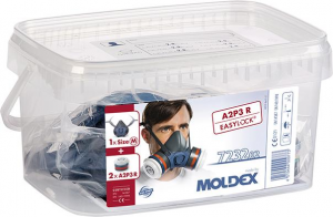 Ochrona dróg oddechowych Pojemnik, półmaska/filtry 7432, A1B1E1K1P3 R