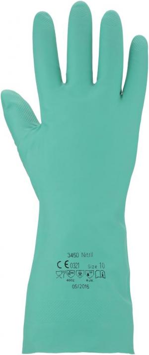 Ochrona rąk Rękawice 3450, rozmiar 8, zielone