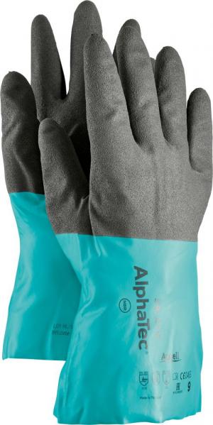 Ochrona rąk Rękawice AlphaTec 58-270, rozmiar 9, czarne/zielone 58-270,