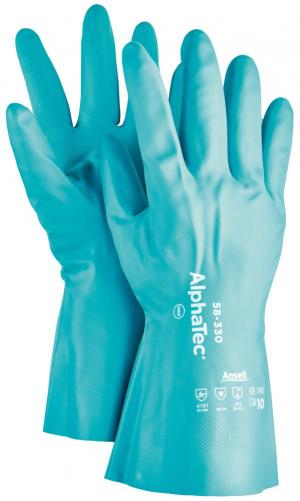 Ochrona rąk Rękawice AlphaTec 58-330, nitryl, zielone, rozmiar 10 58-330,