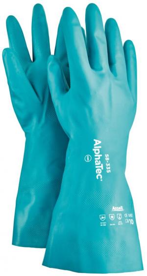 Ochrona rąk Rękawice AlphaTec 58-335, nitryl, zielone, rozmiar 11 58-335,