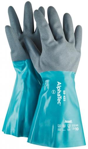 Ochrona rąk Rękawice AlphaTec 58-435, nitryl, zielone/szare, rozmiar 11 58-435,