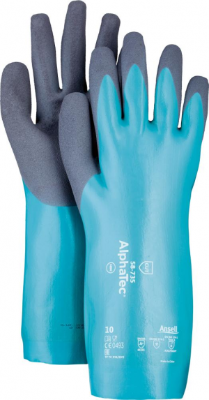 Ochrona rąk Rękawice AlphaTec 58-735,350 mm, rozmiar 6
