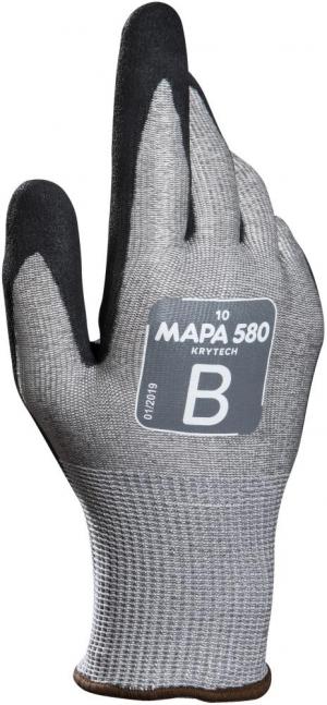 Ochrona rąk Rękawice chroniące przed przecięciem KryTech 580, roz.10