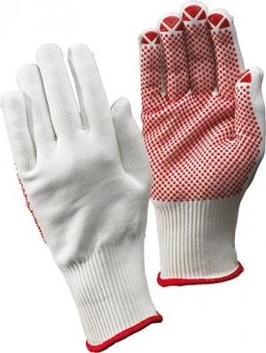 Ochrona rąk Rękawice dziane Packer, białe, rozmiar 9 FORTIS białe