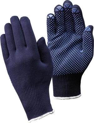 Ochrona rąk Rękawice dziane Packer, niebieskie, rozmiar 7 FORTIS dziane,