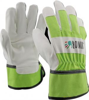 Odzież robocza Rękawice dziecięce PU / bawełna zielony 4-6 lat bawełna,