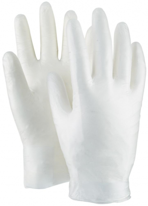 Ochrona rąk Rękawice jednorazowe, męskie, lateksowe, rozmiar 8, (opak. 100 szt.) (opak.
