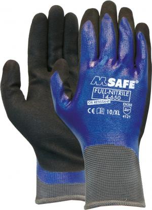 Ochrona rąk Rękawice M-Safe 14650, nitrylowe, pełne powlekane, rozmiar 9 14650,