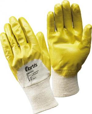 Ochrona rąk Rękawice Mechanik, nitrylowe, żółte, roz. 10, FORTIS fortis