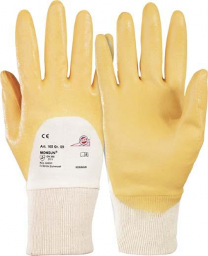 Ochrona rąk Rękawice Monsun 105, rozmiar 8, żółte 10,5