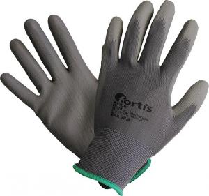 Ochrona rąk Rękawice, PU/Nylon, szare, rozmiar 7 FORTIS