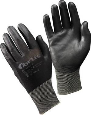 Ochrona rąk Rękawice S, PU/poliamid, czarne, rozmiar 10 FORTIS
