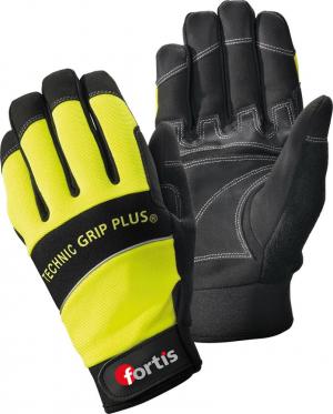Ochrona rąk Rękawice Technic Grip +, roz. 10, żółty/czarny, FORTIS fortis