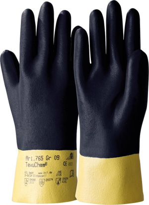 Ochrona rąk Rękawice TevuChem 765, rozmiar 8