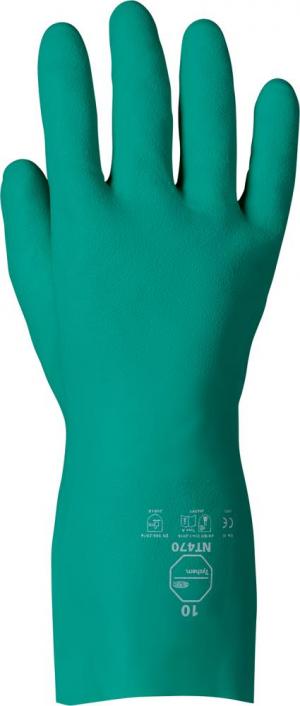 Ochrona rąk Rękawice Tychem NT-470 roz. 7, nitrylowe, 330mm 330mm