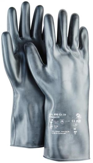 Ochrona rąk Rękawice Vitoject 890, 350 mm, rozmiar11, czarne
