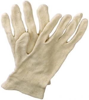Ochrona rąk Rękawice z dżerseju Jilin, rozmiar męski, surowa biel biel,