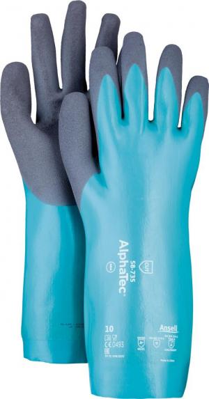Ochrona rąk Rękawice. AlphaTec 58-735, 350 mm, rozmiar 8