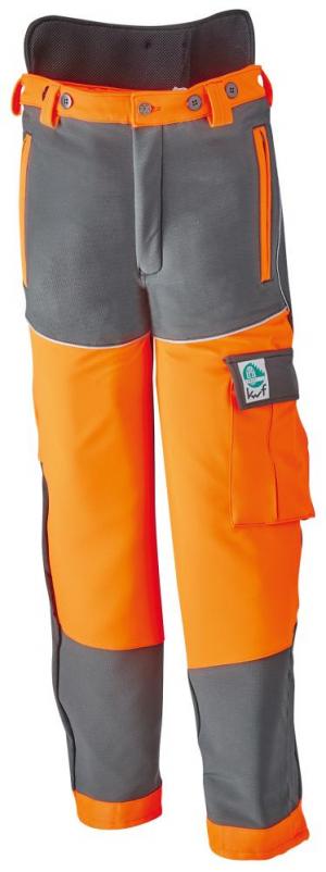Odzież do pracy w leśnictwie Spodnie chroniące przed przecięciem, rozmiar 50/52, szare 50-52