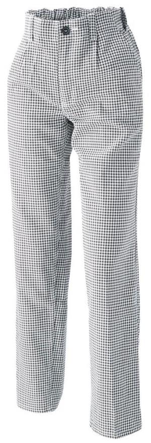 Odzież robocza Spodnie kucharskie/piekarskie 1353 910, roz. 58, czarne/białe
