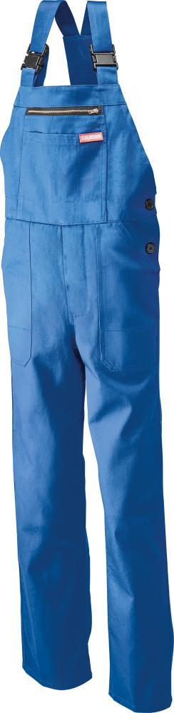 Odzież robocza Spodnie ogrodniczki, 100% bawełna, 290 g/m², rozmiar 48, niebieski królewski 100,