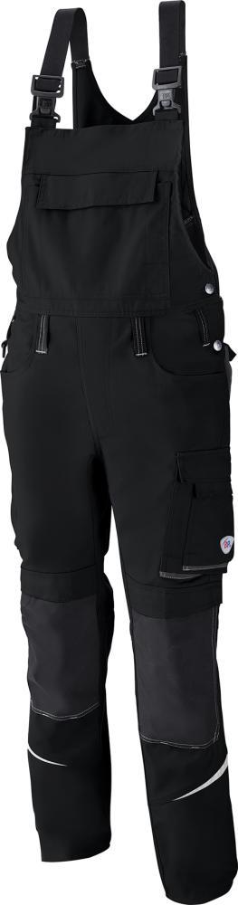 Odzież robocza Spodnie ogrodniczki 1804 720, rozmiar 54, czarne