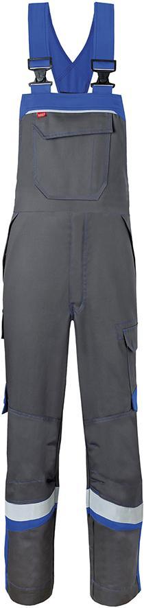 Odzież ochronna Spodnie ogrodniczki, 20288 rozmiar 60, szary/niebieski węgiel 20288