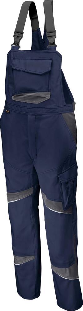 Odzież robocza Spodnie ogrodniczki ACTIVIQ high, rozmiar 52, granatowy/antr. activiq