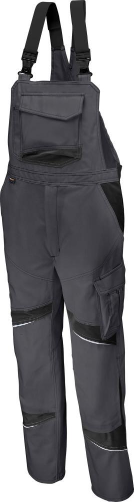 Odzież robocza Spodnie ogrodniczki ACTIVIQ wysokie, rozmiar 48, czarny/antracytowy activiq