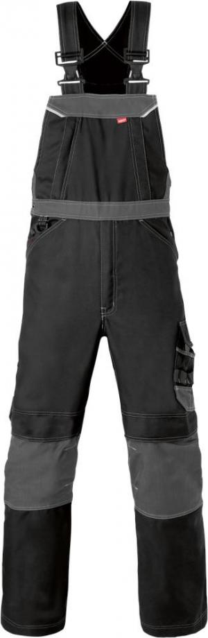 Odzież robocza Spodnie ogrodniczki Attitude, rozmiar 48, czarny/szary węglowy attitude,