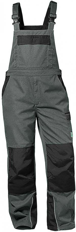 Odzież robocza Spodnie ogrodniczki Bolton, rozmiar 48, szary/czarny bolton,