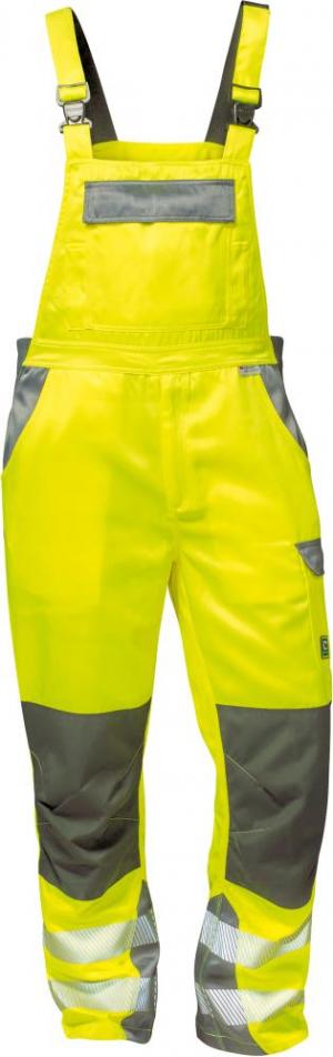 Odzież ochronna Spodnie ogrodniczki Colmar, rozmiar 52, żółte/szare colmar,