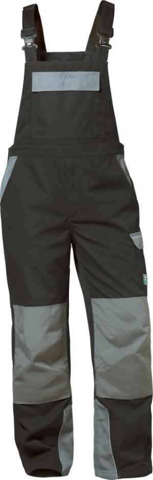 Odzież robocza Spodnie ogrodniczki Everton, rozmiar 50, czarne/szare czarne/szare