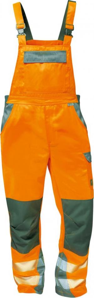 Odzież ochronna Spodnie ogrodniczki ostrzegawcze Metz, rozmiar 60, pomarańczowy/szary metz,