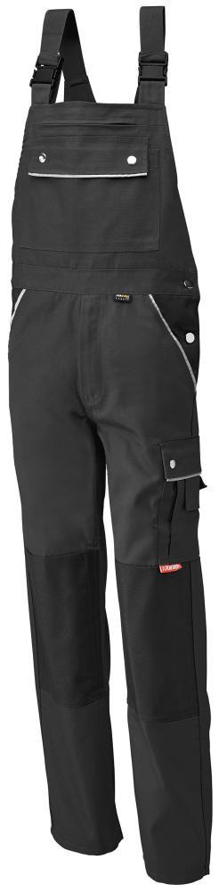 Odzież robocza Spodnie ogrodniczki, płótno, 320 g/m², roz. 50, czarny czarny