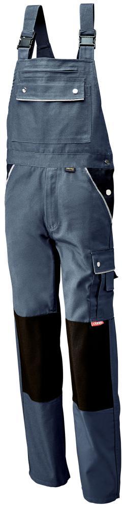 Odzież robocza Spodnie ogrodniczki, płótno, 320 gsm, roz. 48, szare gsm,
