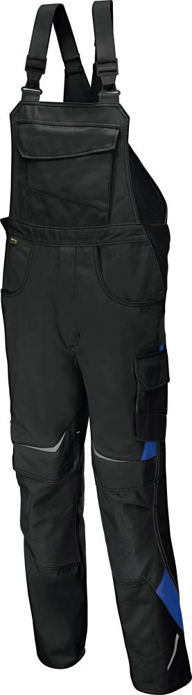 Odzież robocza Spodnie ogrodniczki PULSSCHLAG roz. 58, czarny/niebieski czarny/niebieski,