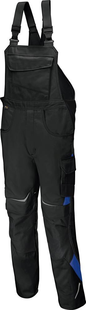Odzież robocza Spodnie ogrodniczki PULSSCHLAG roz. 60, czarny/niebieski czarny/niebieski,