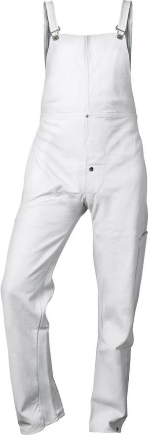 Odzież ochronna Spodnie ogrodniczki spawalnicze, pełna skóra, rozmiar M, naturalne naturalne