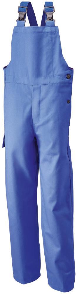 Odzież ochronna Spodnie ogrodniczki spawalnicze, rozmiar 50, 360 g/m², niebieski królewski g/m²,